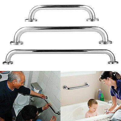Stainless Steel Bathroom Disability Handle Hand Rail Grab Support Bar Aid Holder