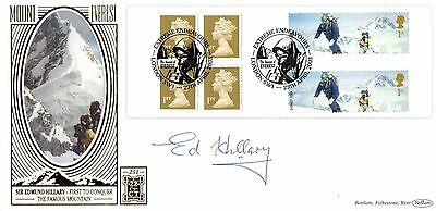 Everest FDC Signed by Sir Edmund Hillary