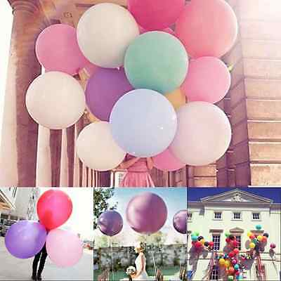 Big Giant 36 Inch Latex Quality Helium Balloons Party Air Birthday Wedding Decor