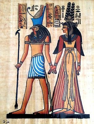 Egyptian Art Papyrus Paper Royal Tombs Temples Pharaohs Made in Egypt EA33