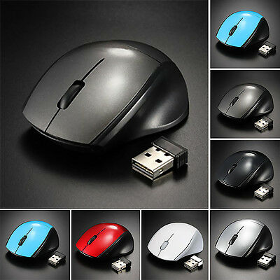 MINI Optisch Funkmaus 2.4GHz Wireless USB Mouse 2000DPI Für PC Laptop Notebook