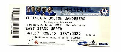 2009-2010 Chelsea v Bolton Carling Cup Ticket   POST FREE