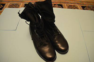 British Army Wellco Black Jungle Boots 10 Wide Issue