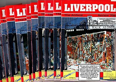 1988-1989 Liverpool Home Programmes - select the one you want