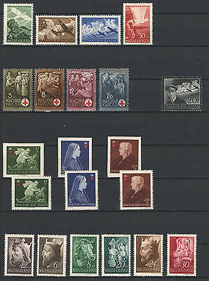 Sale !!! - Hungary 1942. Complete Year Collection With Imperf Redcross Mnh (**)
