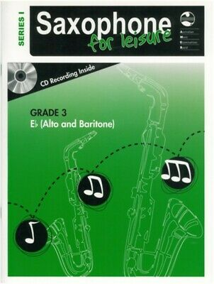 Saxophone For Leisure Grade 3 E Flat Music Book & CD Series 1