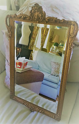 Exquisite Antique French Louis  Xvi Style Beveled Gilded Mirror