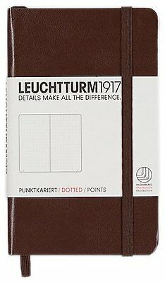 Leuchtturm1917 339602 Carnet Pocket A6 185 pages numerotees Tabac Pointilles