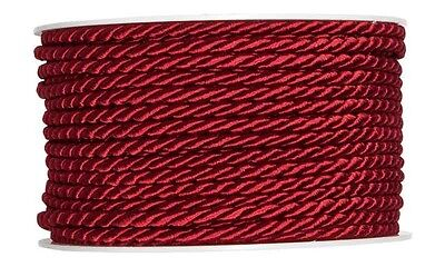 Cord bordeaux red 4mmx25m Cord band Craft cord craft cord 0.36 EUR/Meter