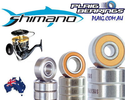 Fishing Reel Bearings to suit Shimano Reels Stainless Steel And Ceramic Hybrid