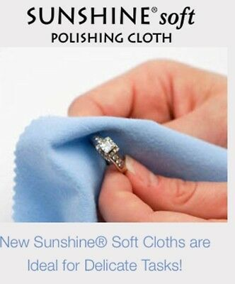 Sunshine Jewellery Silver Polishing Cloth NEW SOFT Jewelry Cleaner (2 FOR $9.90)