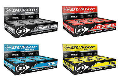 12.99 NEW   6   Dunlop Squash Balls Pro Double Dot Yellow, Competition FREEPOST