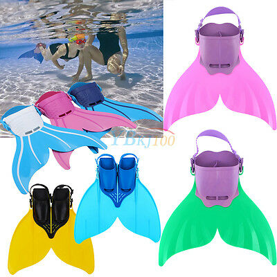 Kids Teenagers Shallow dives Mermaids Monofin Flippers Swimmable Mermaid Tail