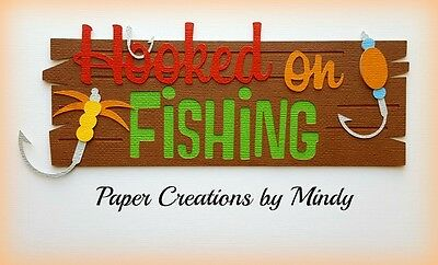 Craftecafe Mindy Summer Hooked on Fishing premade paper piecing scrapbook Title