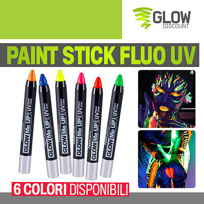 PAINT STICK FLUO UV colori body paint uv body art uv fluo serata wood  reactive