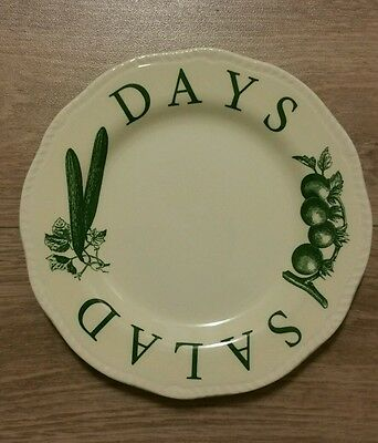 Wood & Sons Large Side/Salad/Cake Plate. The Kitchen Garden Range Discontinued