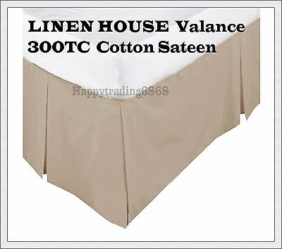 LINEN HOUSE  Linen Color Box Pleated Valance / Bed Skirt  *  300CT Cotton Sateen