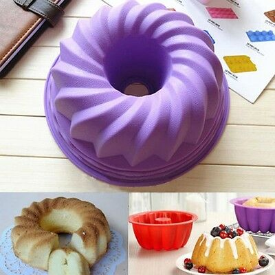 Silicone Ring Shaped Cake Pastry Bread Mold Tray Mould Bakeware Kitchenware