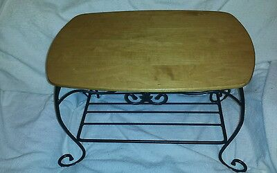 Longaberger Wrought Iron Treasure Basket Stand Foundry-Made in the USA w/top!!