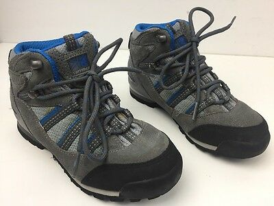 Boys Karrimor Blue & Grey Walking Hiking Boots Outdoors Size 12
