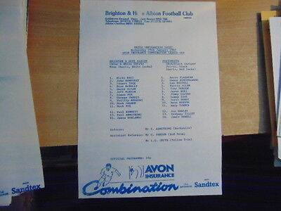 Reserves 96/7 Brighton v Portsmouth Jan 29 League Cup