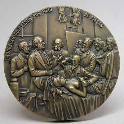 ART MEDICINE/ FEMALE STERILIZATION SURGERY Painting By HENRY GERVEX Bronze Medal