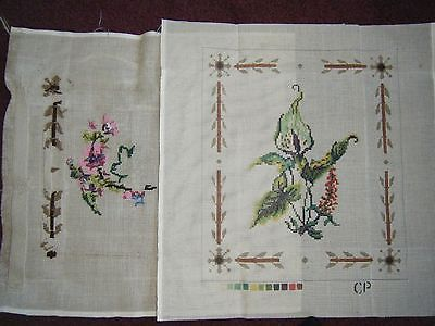 Two Vintage Tapestry Cushion Cover Canvases