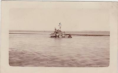 Rp Military Vehicle His Majesty's Armoured Car Buffalo Stuck In River Iraq 1924