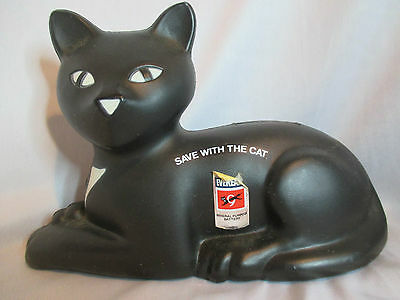 Eveready Save The Cat Black Cat Bank Union Carbide Corporation 1981