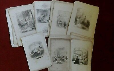 A Amazing Collection Of Over 100 Original Antique Dickensian Prints.