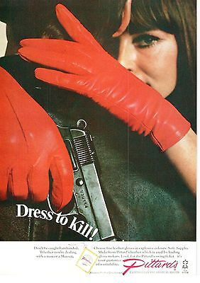 Pittard Yeovil Fine Leather Gloves Dress to Kill 1967 Vintage Advert