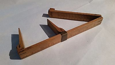 RARE J Rabone and Sons Antique Boxwood & Brass Shoe - Foot Size Rule