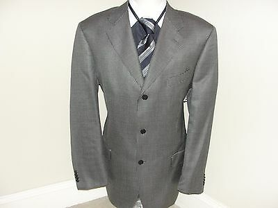 Natazzi Men's  3 Button Silk & Wool Sport Suit Jacket Sz 44L Made in Italy