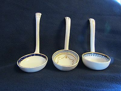 Three Blue and White China Ladles