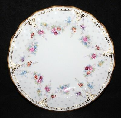 "Royal Crown Derby - Royal Antoinette - 8"" Fluted Dessert Plate - XXIX/1966 - 2nd"