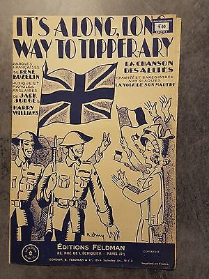 Partition ancienne It's a long, long way to tipperary - 1934