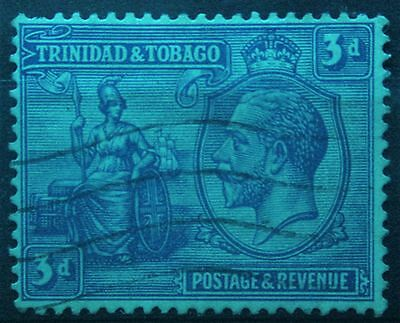 Trinidad and Tobago 1922. George V 3d Blue. S.G.223. Used.