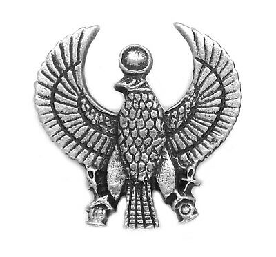 Phoenix (Immortality) Egyptian Pewter Pin Badge / Brooch