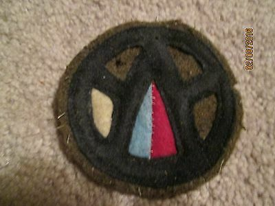 WWI US Army patch 89th Division Engineers patch AEF