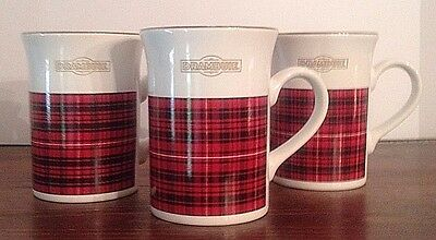 DRAMBUIE Flared Top Coffee Tea Cup Mug KILNCRAFT STL Made in England Set of 3