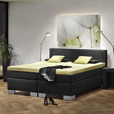 dubai black boxspringbett hotelbett designbett doppelbett bett 100x200cm eur. Black Bedroom Furniture Sets. Home Design Ideas
