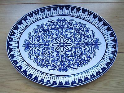 BWM Cauldon Teutonic antique seving platter blue & white