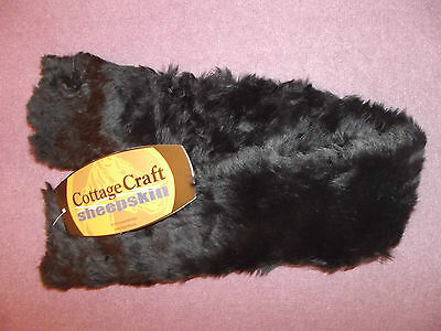 "New 35"" Large Black Cottage Craft Sheepskin 100 % Australian Wool Girth Sleeve"