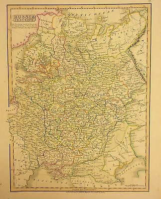 1820 Map of Russia in Europe by C. Smith - Original RARE Antique