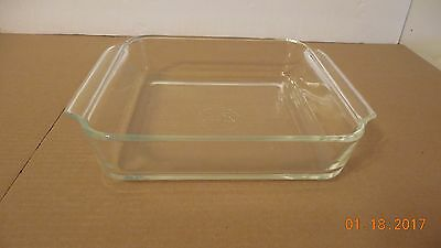"Anchor Hocking 8"" Square Clear 1 1/2 Qt. Baking Pan #435"