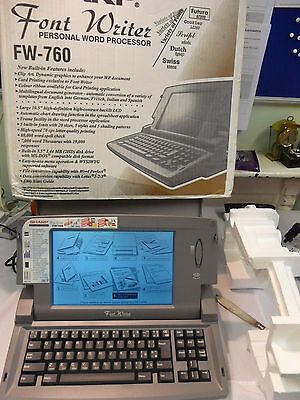 Sharp Font Writer FW-760. Word Processor & Buil In Printer Boxed & Instructions