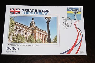2012 London Olympics - Great Britain Torch Relay Fdc - Bolton Day 13