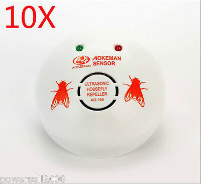10 X 2012 New Model Garden And Home Electronic Ultrasonic Flies Repeller