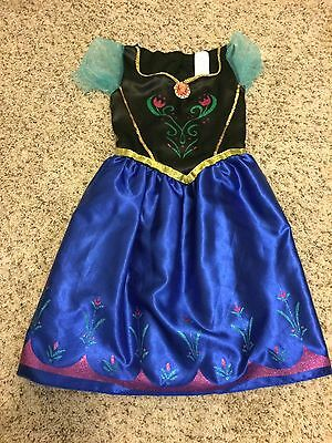 Disney Frozen Anna Dress Little Girl Toddler Size 4-6X Costume Dress Up Hallowee