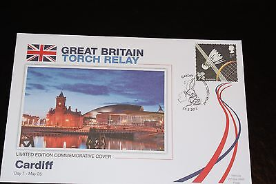 2012 London Olympics - Great Britain Torch Relay Fdc - Cardiff Day 7